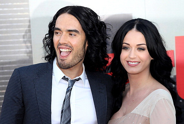 The European Premiere Of Arthur - katy perry and russell brand