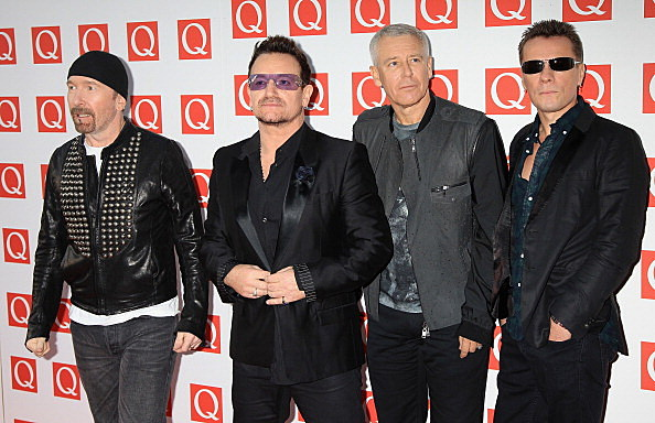 The Edge, Bono, Adam Clayton, Larry Mullen Jr of U2
