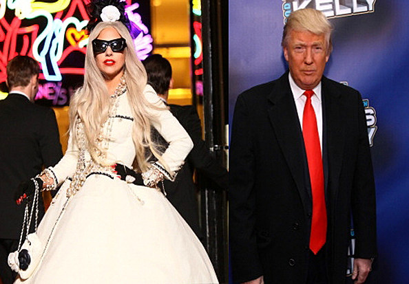 lady gaga and donald trump