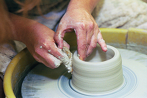 spinning clay