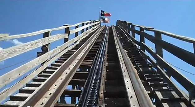 The Rattler at Six Flags Fiesta Texas in San Antonio, TX