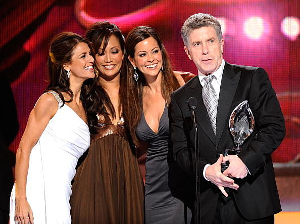 Samantha Harris, Carrie Ann Inaba, Brooke Burke and Tom Bergeron from Dancing With The Stars