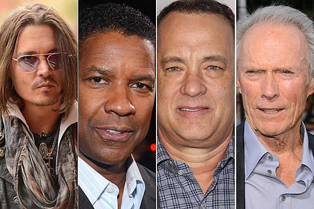 Johnny Depp, Denzel Washington, Tom Hanks, Clint Eastwood