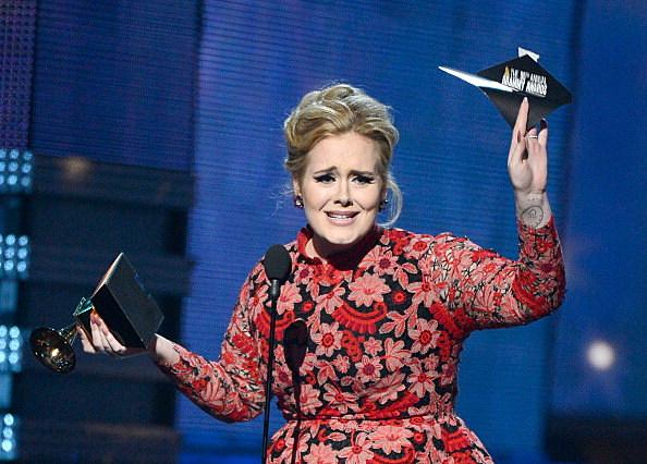 Adele on Grammy Win