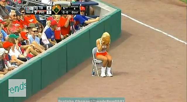Hooters ball girl