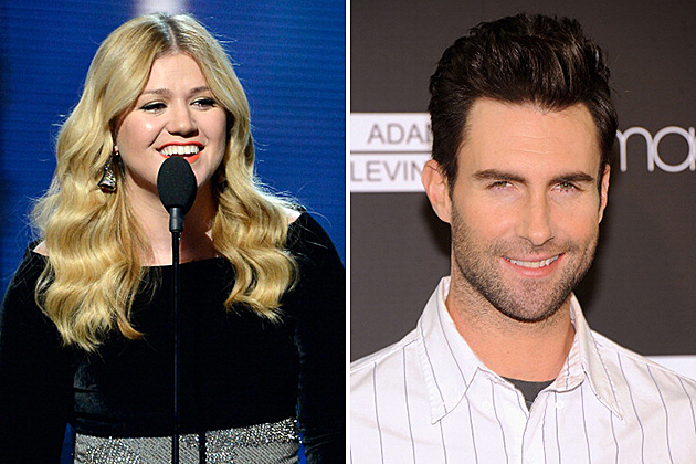 Kelly Clarkson and Adam Levine