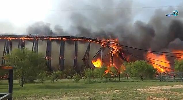 railroad trestle fire
