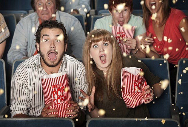 Movie Theater Tossing Popcorn