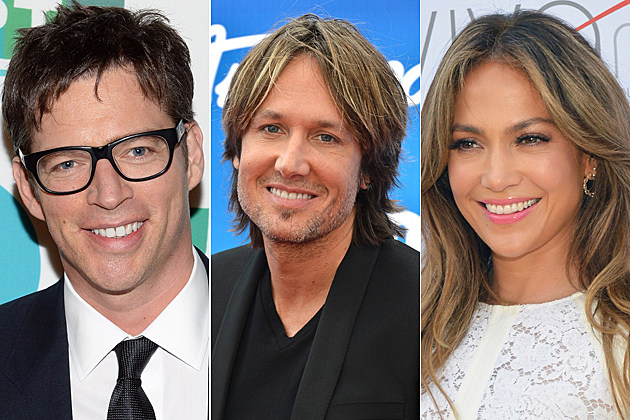 Harry Connick, Jr., Keith Urban and Jennifer Lopez