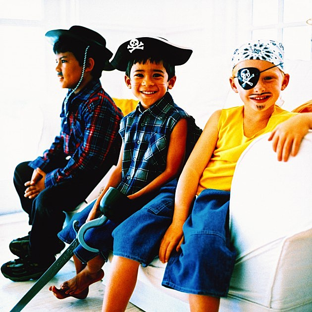 Boys Dressed as Pirates and Cowboy-Credit-Stockbyte-57599162