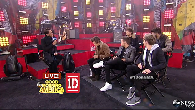 One Direction on Good Morning America with Robin Roberts