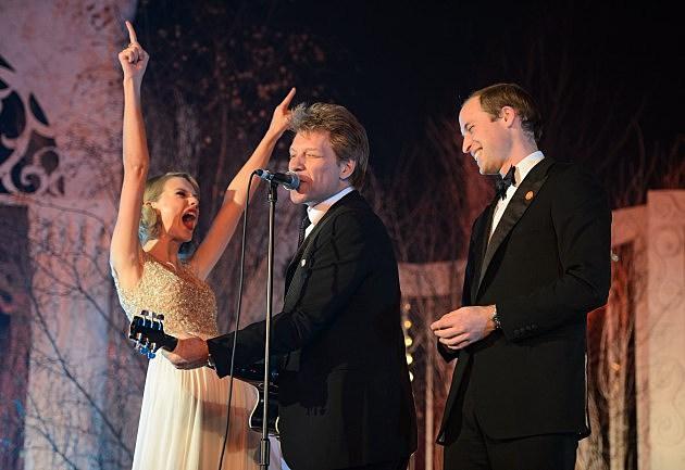 Taylor Swift, Jon Bon Jovi and Prince William, Duke of Cambridge