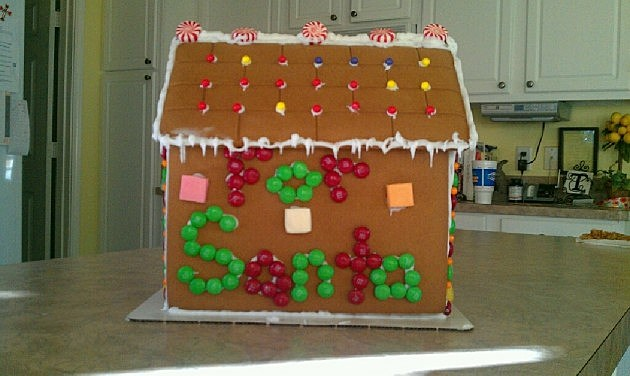 Rebecca's gingerbread house