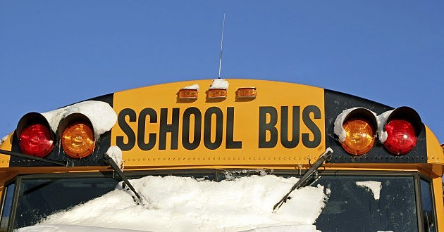 Winter School Bus