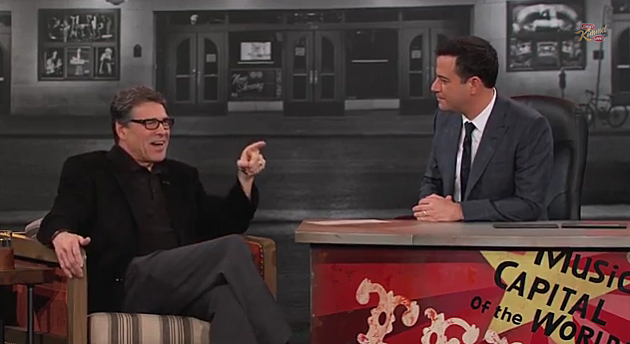 Texas Governor Rick Perry on Jimmy Kimmel Live