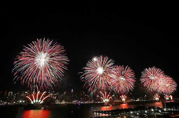 Fireworks Burst Over New York City On Fourth Of July