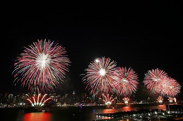 Fireworks Burst Over New York City On Fourth Of July