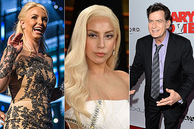 Britney Spears, Lady Gaga and Charlie Sheen