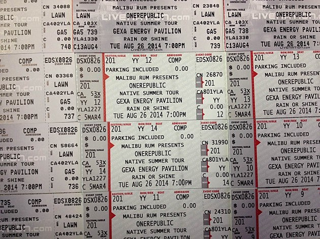 OneRepublic concert tickets