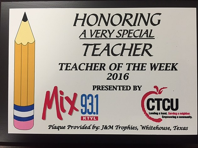 Mix 93-1 Teacher of the Week