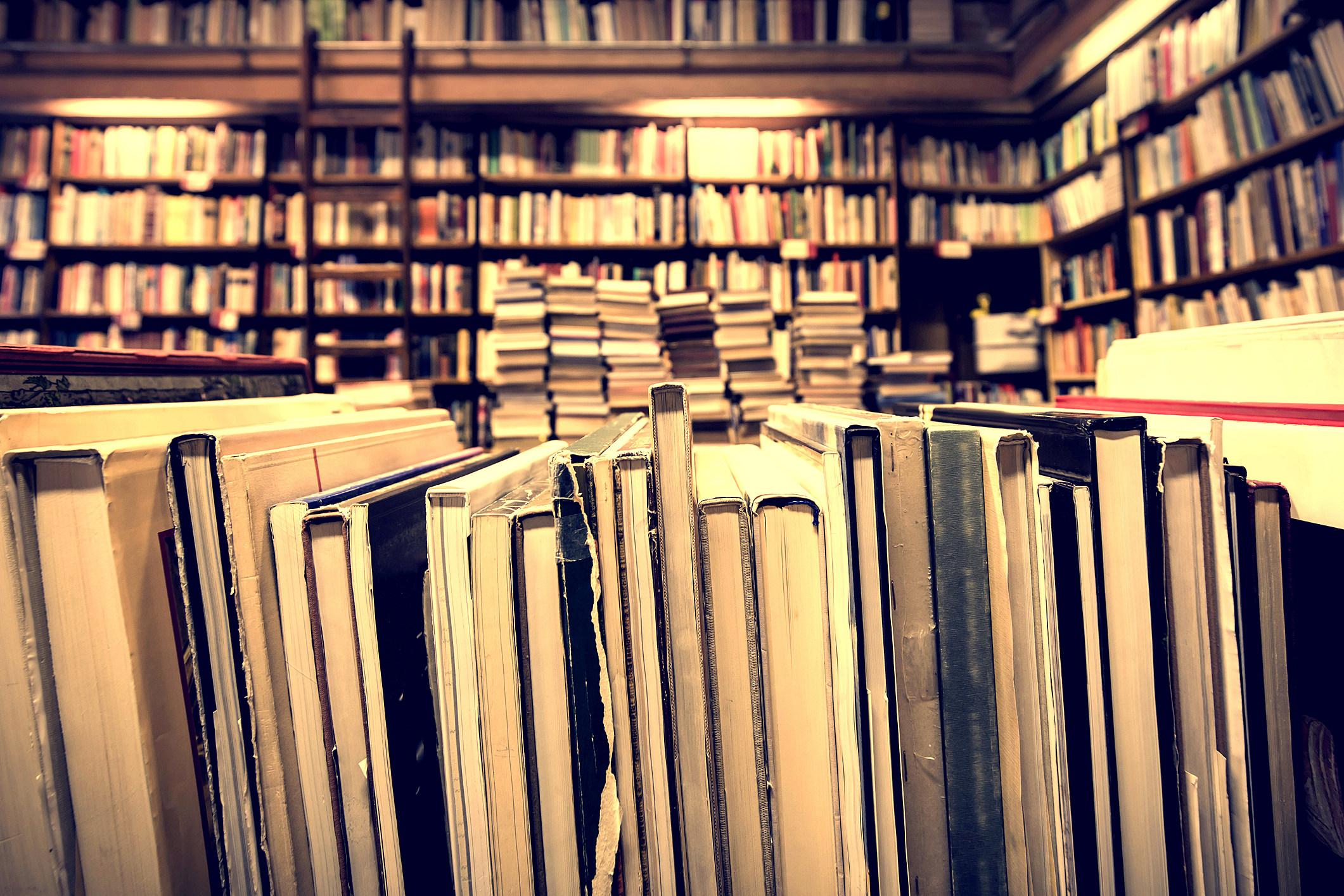 books in second-hand bookshop