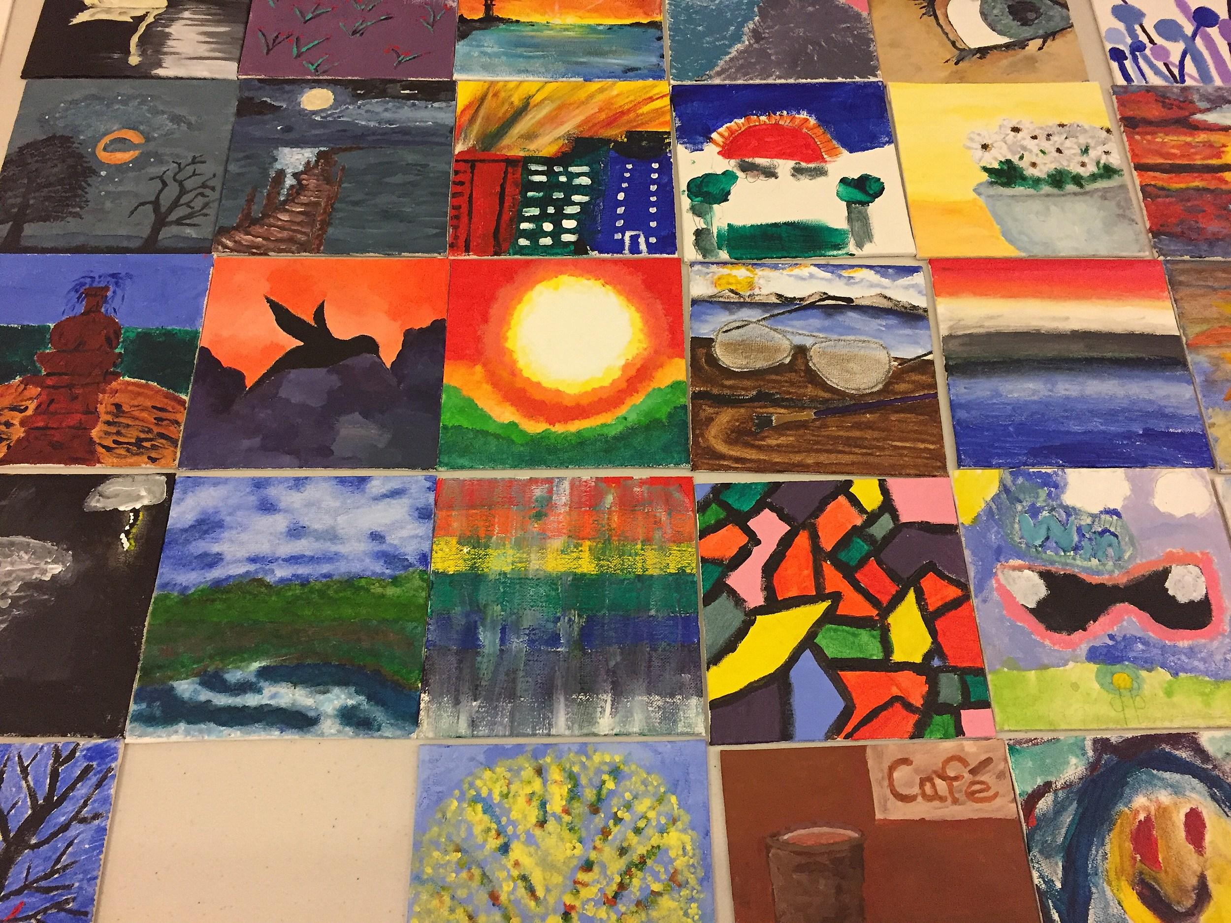 6x6 Paintings