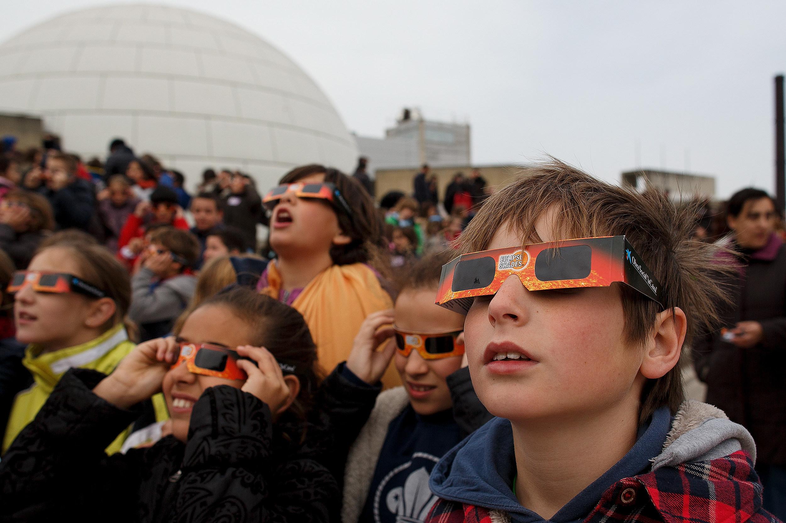 Partial Solar Eclipse Over Spain